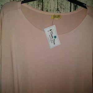 Piko Long Sleeve Tunic Pink Tounic|dress NWT size